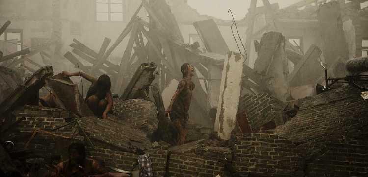 电影以唐山大地震为背景,讲述了一位母亲在地震中只能选择救姐弟之一